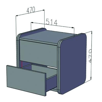 Прикроватная тумбочка (фото, вид 4)